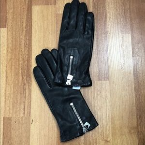 Michael Kors black soft leather gloves S